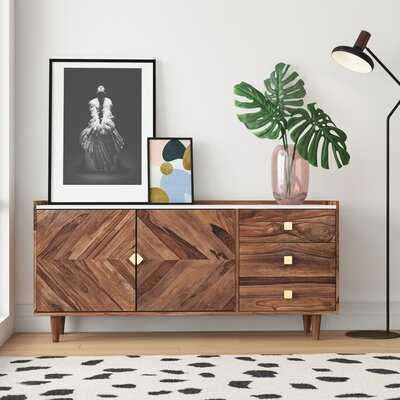 Alanna Solid Acacia Wood Sideboard - AllModern