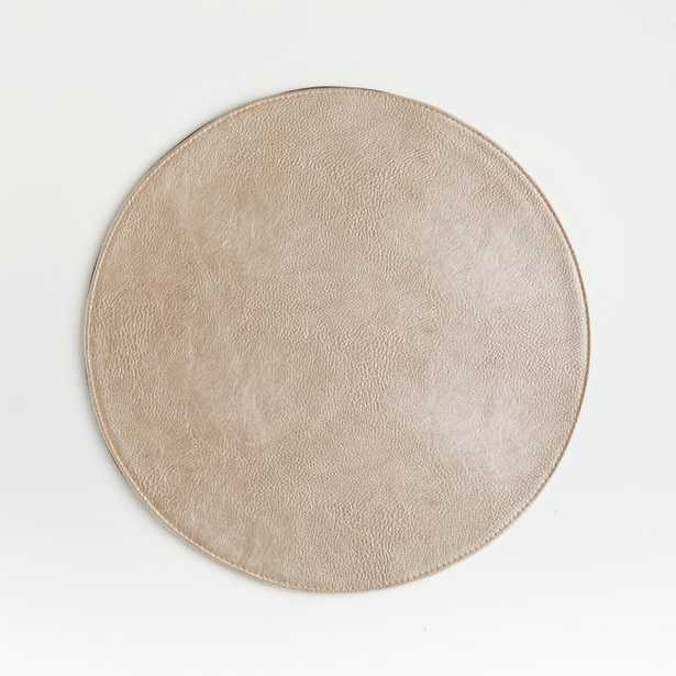 Maxwell Gold Round Easy-Care Placemat - Crate and Barrel