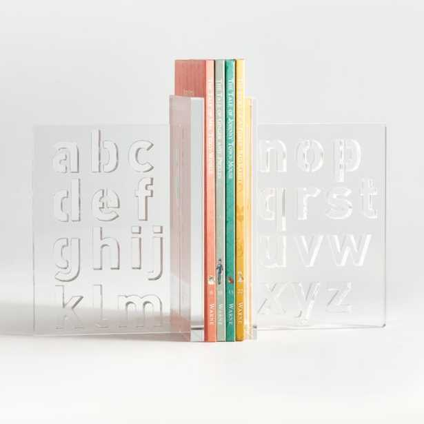 Acrylic Alphabet Bookends - Crate and Barrel