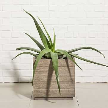 Portside Outdoor Planters, Small, Weathered Gray - West Elm