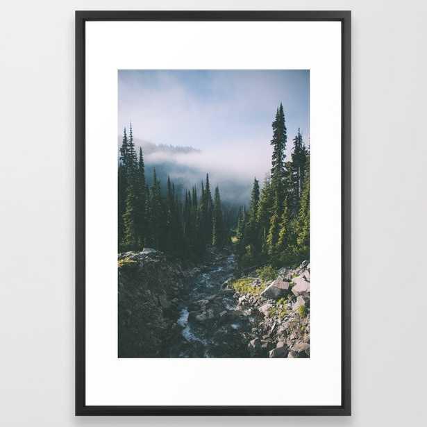Washington Iii Framed Art Print by Hannah Kemp - Vector Black - LARGE (Gallery)-26x38 - Society6