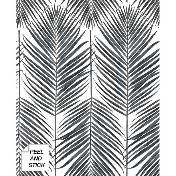 NextWall Black Sands Paradise Palm Peel & Stick Wallpaper, 18' x 20.5' - Home Depot