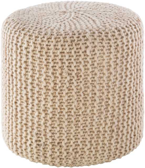 Reese Ottoman, Ivory - Cove Goods