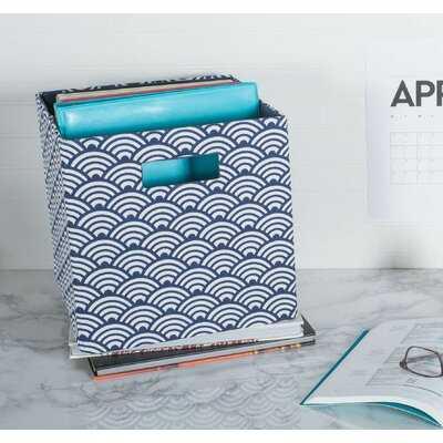 Cube Waves Fabric Polyester Bin - Wayfair