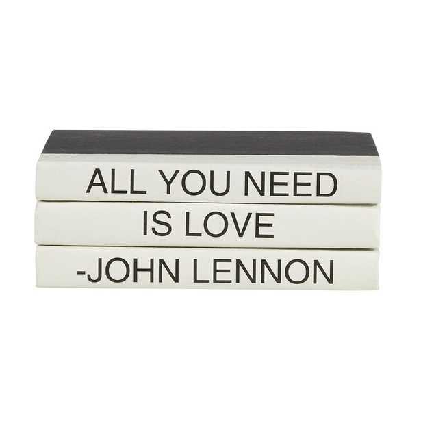 E. Lawrence Ltd. 3 Piece All You Need Is Love Quote Decorative Book Set - Perigold