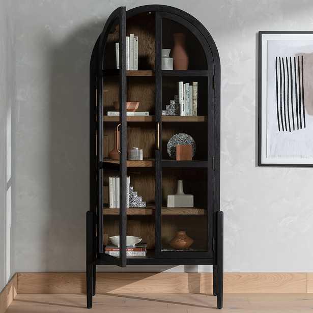 "Tolle 38"" Wide Black Drifted Oak Cabinet - Style # 97T61 - Lamps Plus"