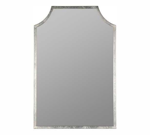 "Juniper Metal Wall Mirror, Silver, 24""x36"" - Pottery Barn"