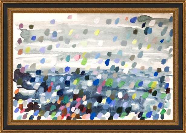 Beach scene from memory  by Hannah Dean for Artfully Walls - Artfully Walls