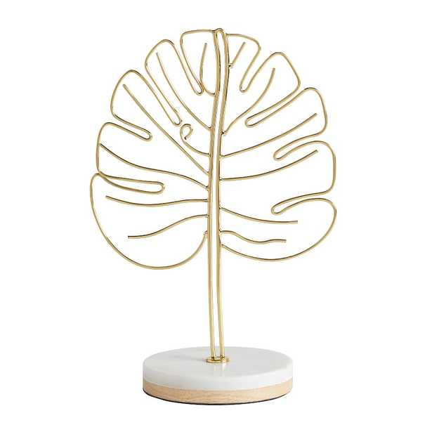 Marble Desk Accessories, Photo Display Leaf, White/Gold - Pottery Barn Teen