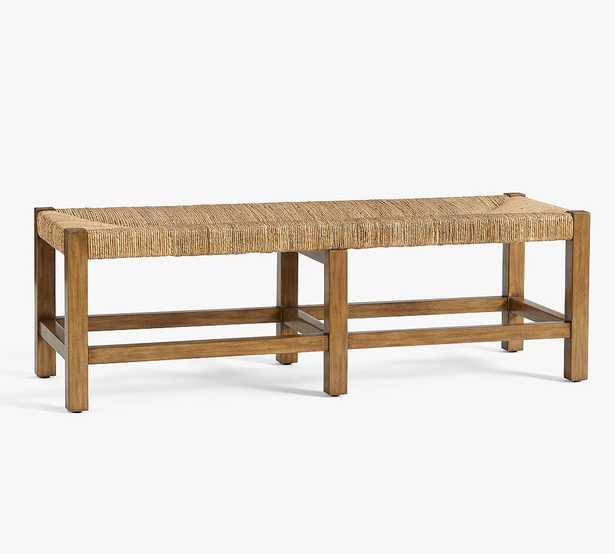 Malibu Woven Backless Bench, Honey - Pottery Barn