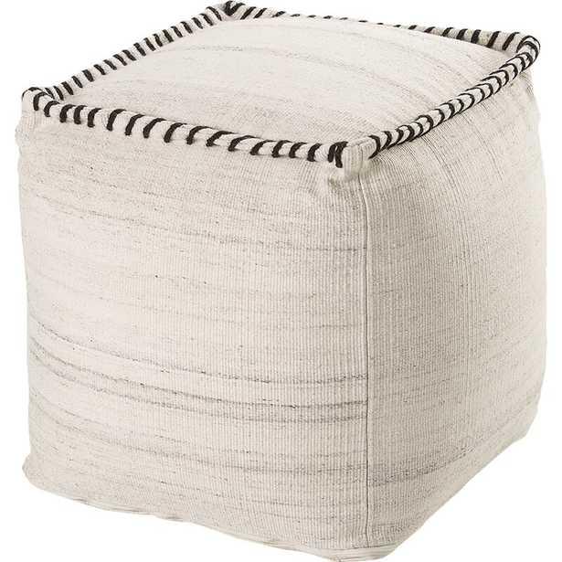Pouf Fabric: White - Perigold