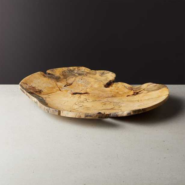Slice Round Tamarind Wood Server - CB2