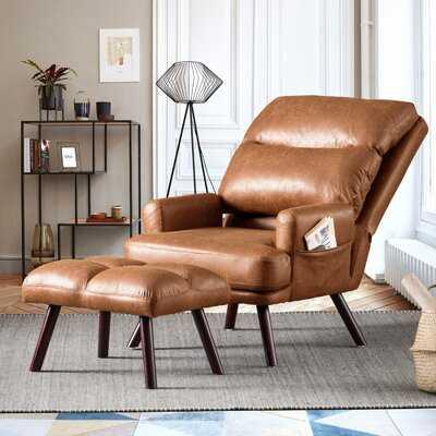 "Hogle 24"" W Lounge Chair and Ottoman - Wayfair"