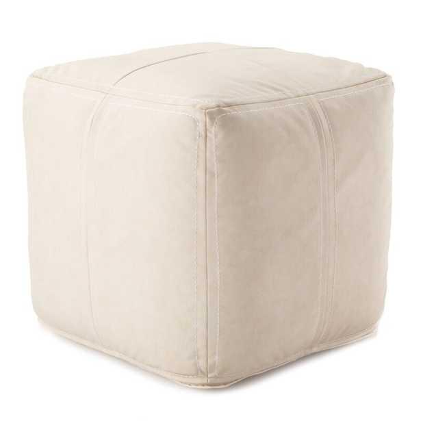 Ultra Pouf Fabric: White - Perigold