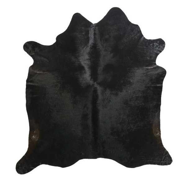 """Saddlemans Black Natural Area Rug Rug Size: Novelty 6' x 7'6"""" - Perigold"""