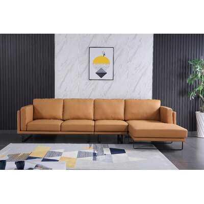 "Daltry 127"" Wide Genuine Leather Sofa & Chaise - Wayfair"