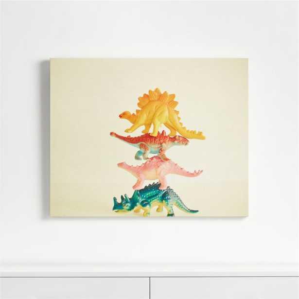 Dinosaur Antics Canvas Wall Art - Crate and Barrel