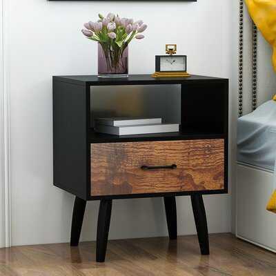 Turcotte 1 - Drawer Nightstand in Black - Wayfair