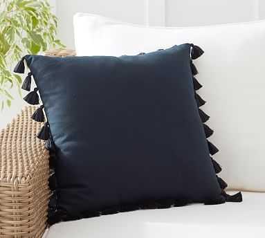 """Tassle Trim Indoor Outdoor Pillow, 18 x 18 x 18"""" - Pottery Barn"""