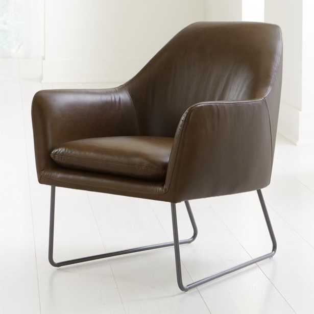 Clancy Leather Chair - Crate and Barrel