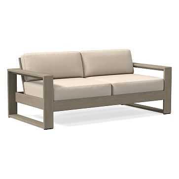 Portside Sofa Sunbrella(R) Outdoor Cushion Covers, Cast, Pumice - West Elm