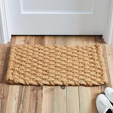 Solid Woven Doormat, 18'x30', Natural - West Elm