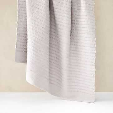 """Soft Corded Throw, 50""""x60"""", Frost Gray - West Elm"""