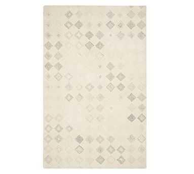 Lin Tufted Wool Rug, 8' x 10', Ivory Multi - Pottery Barn