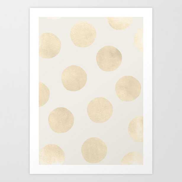 Gold Polka Dots Art Print by Georgiana Paraschiv - LARGE - Society6