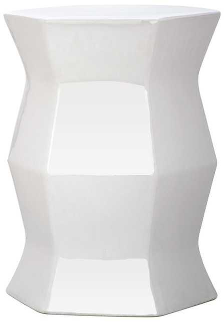 Modern Hexagon Garden Stool - White - Arlo Home - Arlo Home