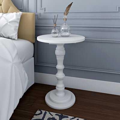 Sadie Solid Wood Pedestal End Table - Wayfair