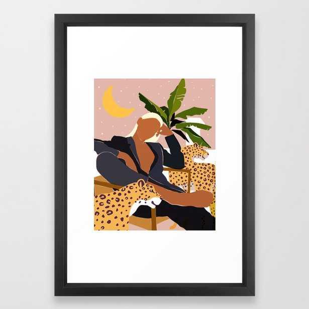 Girl Boss #illustration #painting Framed Art Print by 83 Orangesa(r) Art Shop - Vector Black - SMALL-15x21 - Society6