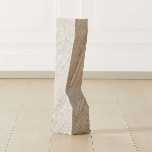 Vesta Marble Sculpture Pedestal Large - CB2