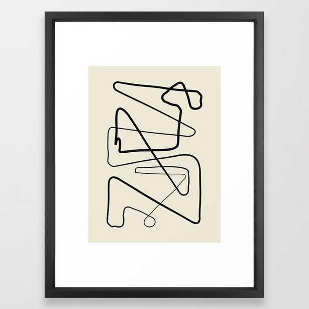 Movements Framed Art Print by Grace - Vector Black - MEDIUM (Gallery)-20x26 - Society6