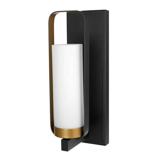 Globe Electric Alston 1-Light Dark Bronze Wall Sconce - Home Depot