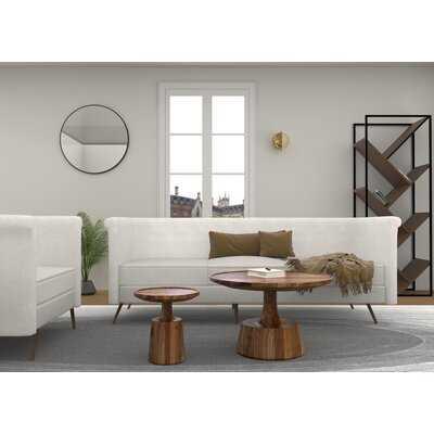 Froelich Solid Wood Drum Coffee Table - Wayfair