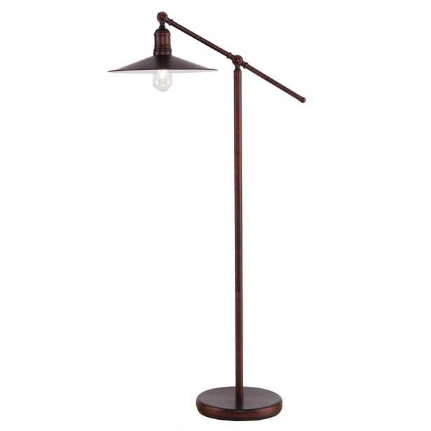 Southern Enterprises Erynne 51 in. Coppery Brushed Bronze Floor Lamp - Home Depot