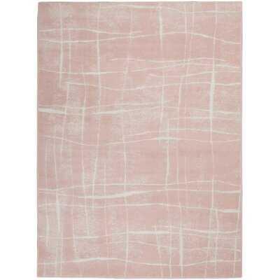 Cohassey Pink/White Area Rug - Wayfair