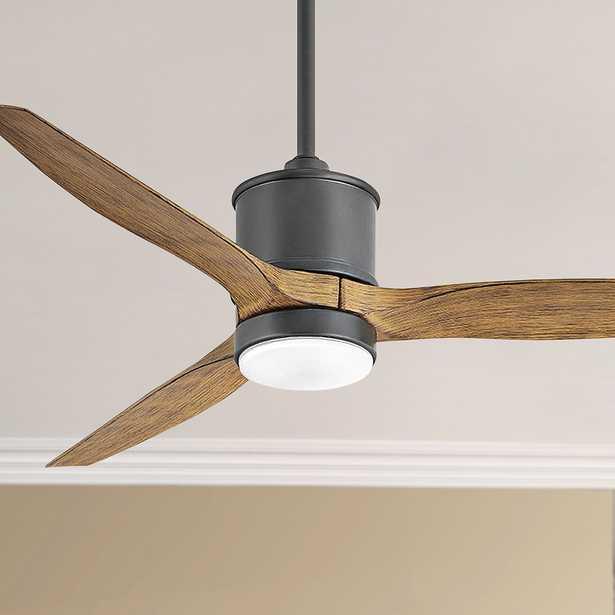 "52"" Hinkley Hover Matte Black Wet LED Ceiling Fan - Style # 84J76 - Lamps Plus"