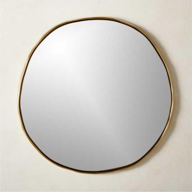 "Sombra Brass Mirror 24"" - CB2"