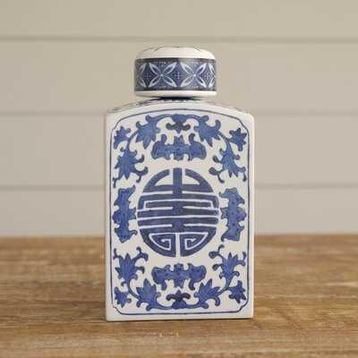 "Wagner Blue 8.5"" Ceramic Jar - Birch Lane"