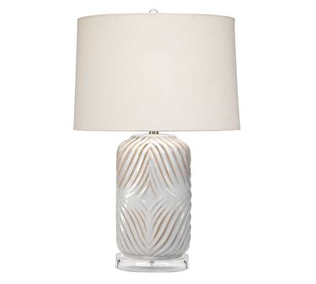 Aliso Viejo Ceramic Table Lamp, White & Natural - Pottery Barn
