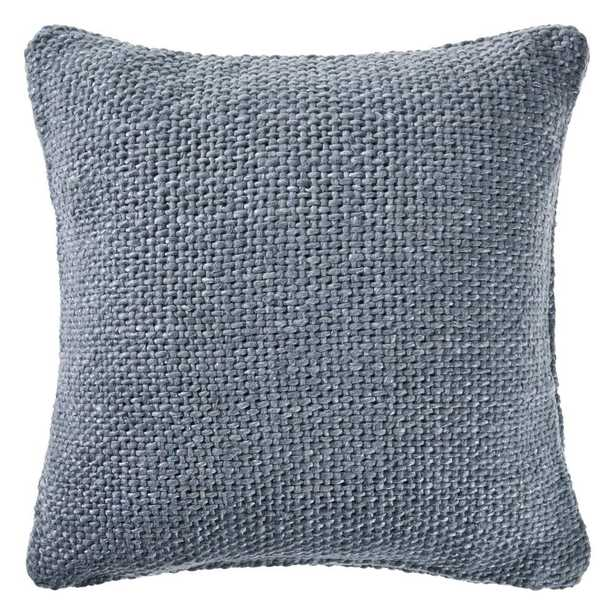 LR Home Wendy Frost Blue Woven Solid Casual Textured Poly-fill 20 in. x 20 in. Throw Pillow - Home Depot