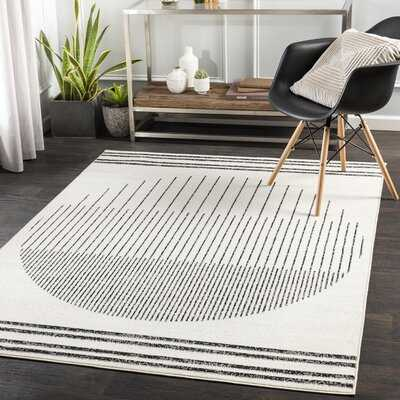 Riordan Abstract Black/Ivory Area Rug - Wayfair