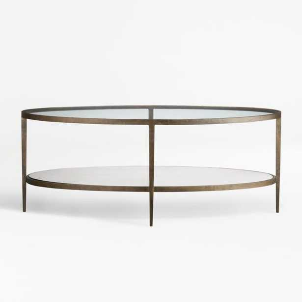 Clairemont Oval Coffee Table - Crate and Barrel