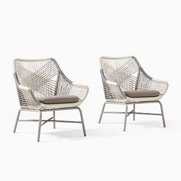 Huron Small Lounge Chairs Set of 2 - West Elm