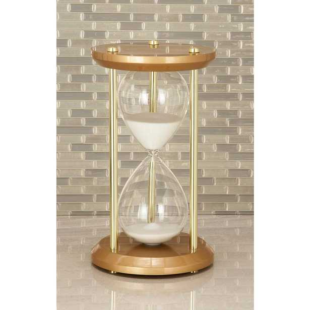 60-Minute Bronze Wooden Hourglass 7 in. x 12 in. Sand Timer, Multi - Home Depot