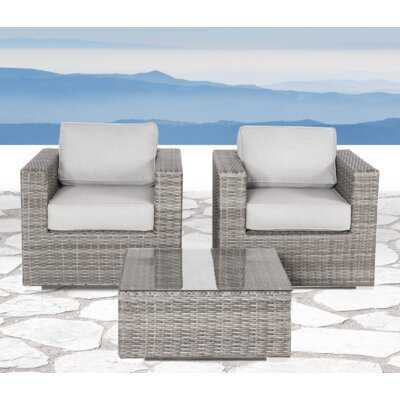 Darvin 3 Piece Seating Group with Cushions - Wayfair