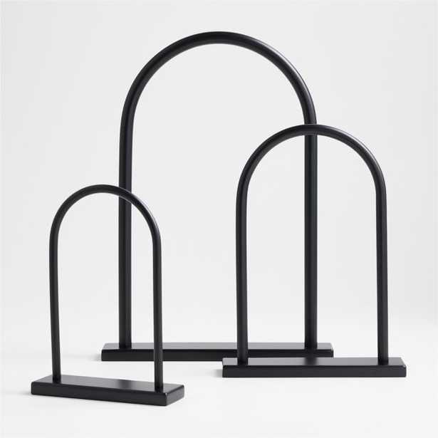 Metal Arch Tabletop Sculptures, Set of 3 - Crate and Barrel