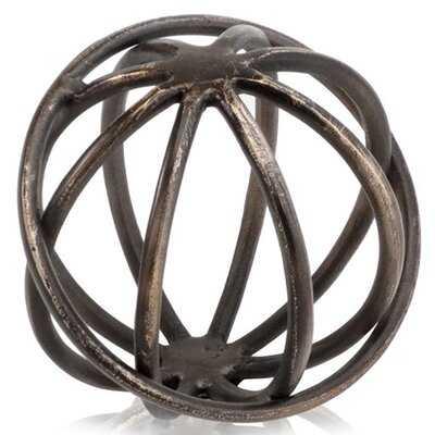 Lucca Sphere Sculpture - Wayfair